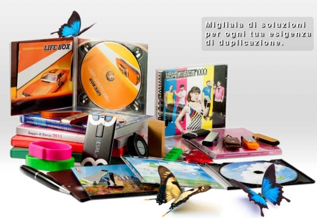 cd audio, dvd video, cd rom, chiavette usb personalizzate